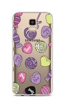 Zadní silikonový kryt na Samsung J6 Lovely Candy