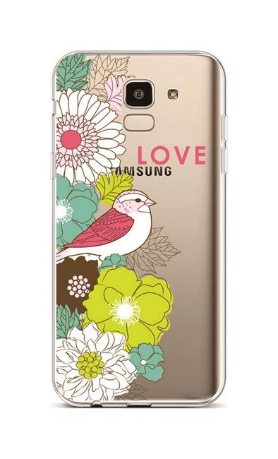 Kryt TopQ Samsung J6 silikon Birdie Love 37969 (pouzdro neboli obal na mobil  Samsung J6 a2f1113c34a
