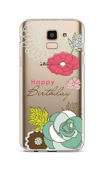Zadní silikonový kryt na Samsung J6 Happy Birthday