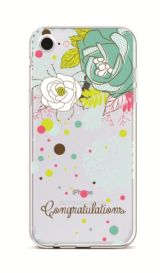 Kryt TopQ iPhone 7 silikon Congratulations 38186 (pouzdro neboli obal na mobil iPhone 7)