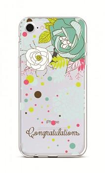 Zadní silikonový kryt na iPhone 7 Congratulations