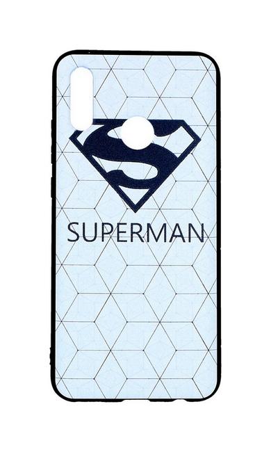 Zadní 3D silikonový kryt na Honor 10 Lite bílý Superman