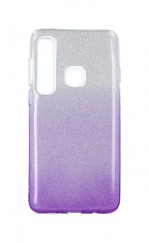 Zadní silikonový kryt na Samsung A9 glitter stříbrno-fialový