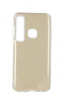 Zadní silikonový kryt na Samsung A9 glitter zlatý