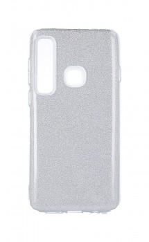 Zadní silikonový kryt na Samsung A9 glitter stříbrný
