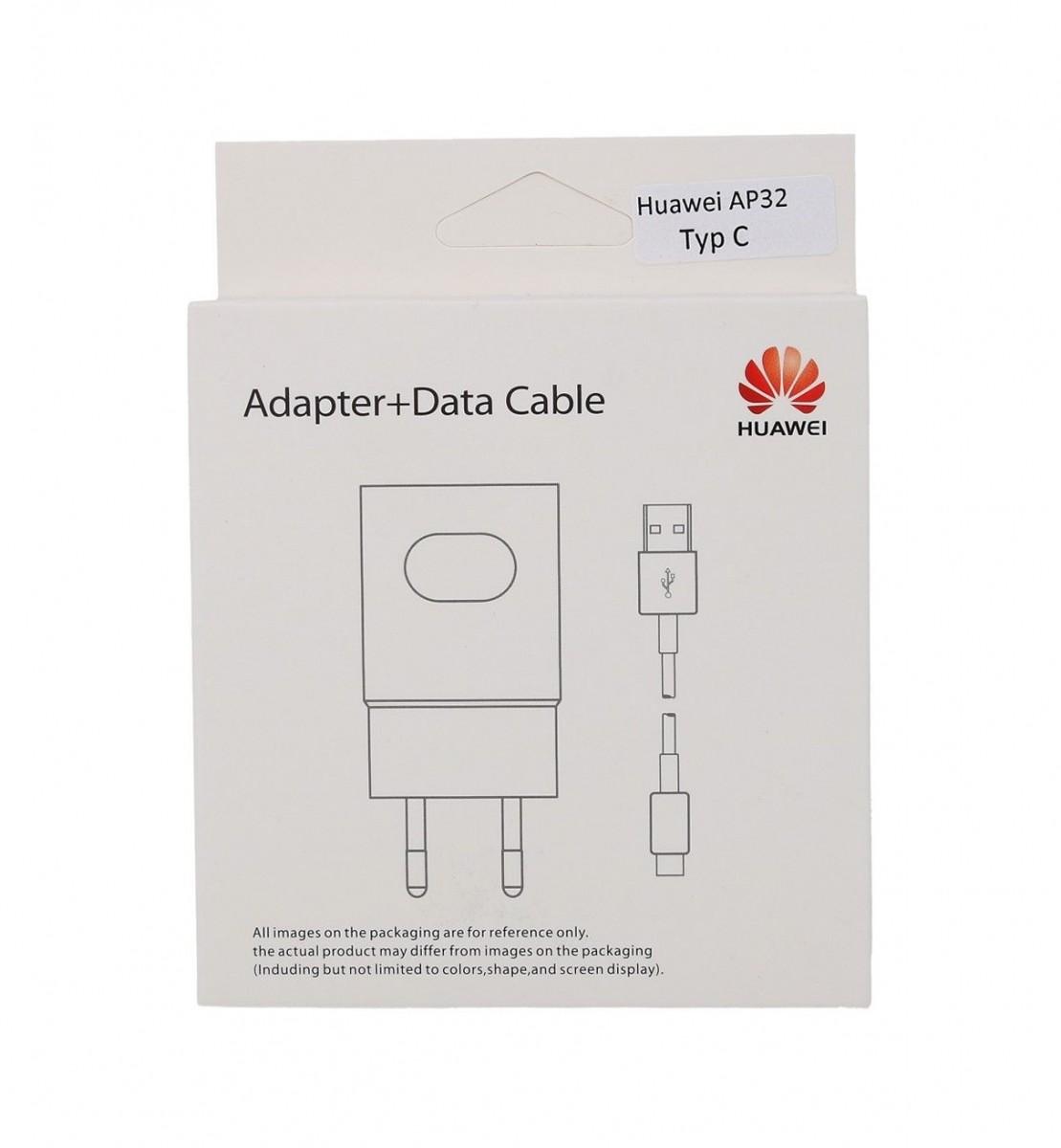 Originální rychlonabíječka Huawei AP32 vč. datového kabelu USB-C (Type-C) bílá 2A 38802