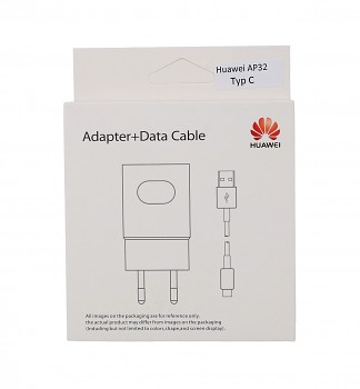 Originální rychlonabíječka Huawei AP32 vč. datového kabelu USB-C (Type-C) bílá 2A