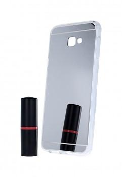 Zadní zrcátkový kryt na Samsung J4+ silikon stříbrný