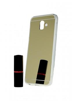 Zadní zrcátkový kryt na Samsung J6+ silikon zlatý