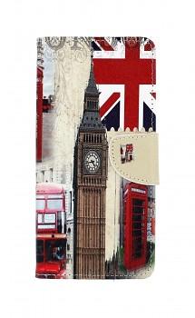 Knížkové pouzdro na Samsung J6+ Londýn