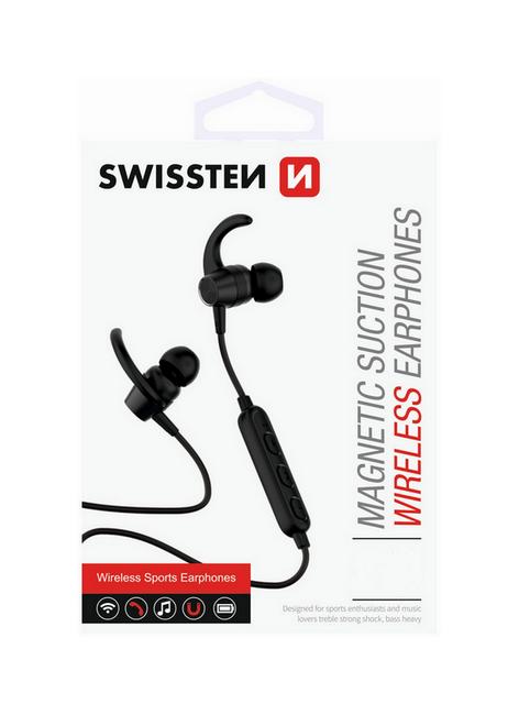 Bluetooth sluchátka SWISSTEN Active černá 39563
