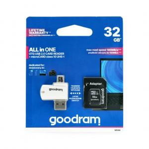 Paměťová karta GOODRAM 32GB Class 10 + čtečka micro USB 40086