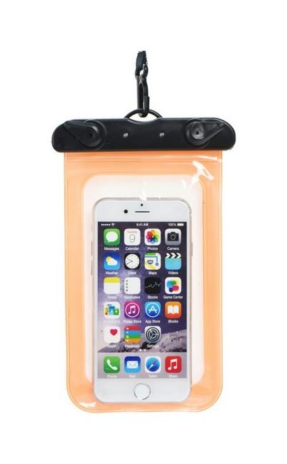 Univerzální vodotěsné pouzdro na mobil TopQ oranžové 40261