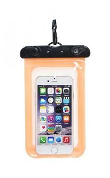 Univerzální vodotěsné pouzdro na mobil oranžové