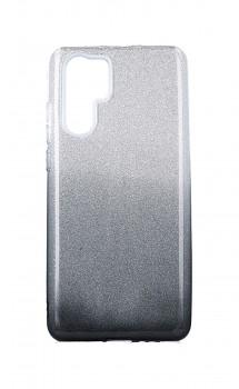 Zadní pevný kryt na Huawei P30 Pro glitter stříbrno-černý