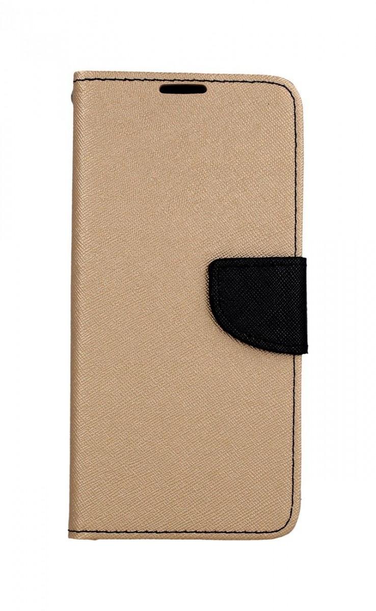 Knížkové pouzdro na Samsung A9 zlato-černé