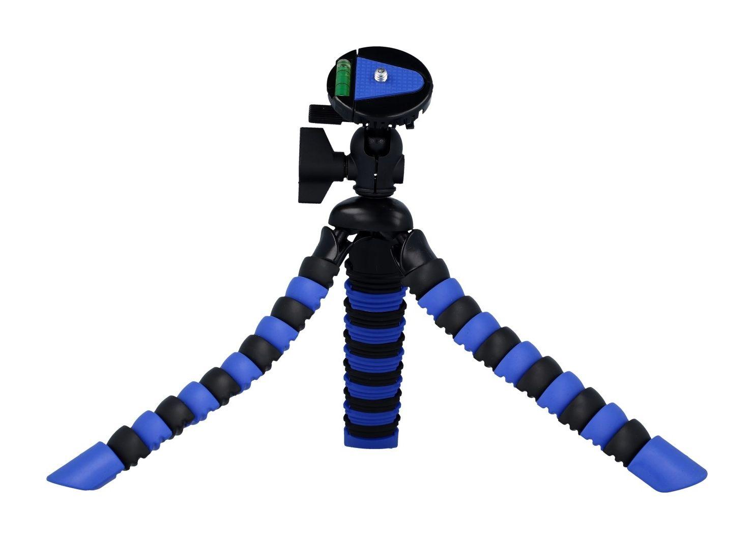 Stativ pro mobilní telefon TopQ flexibilní modro-černý 40701