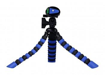 Stativ pro mobilní telefon flexibilní modro-černý