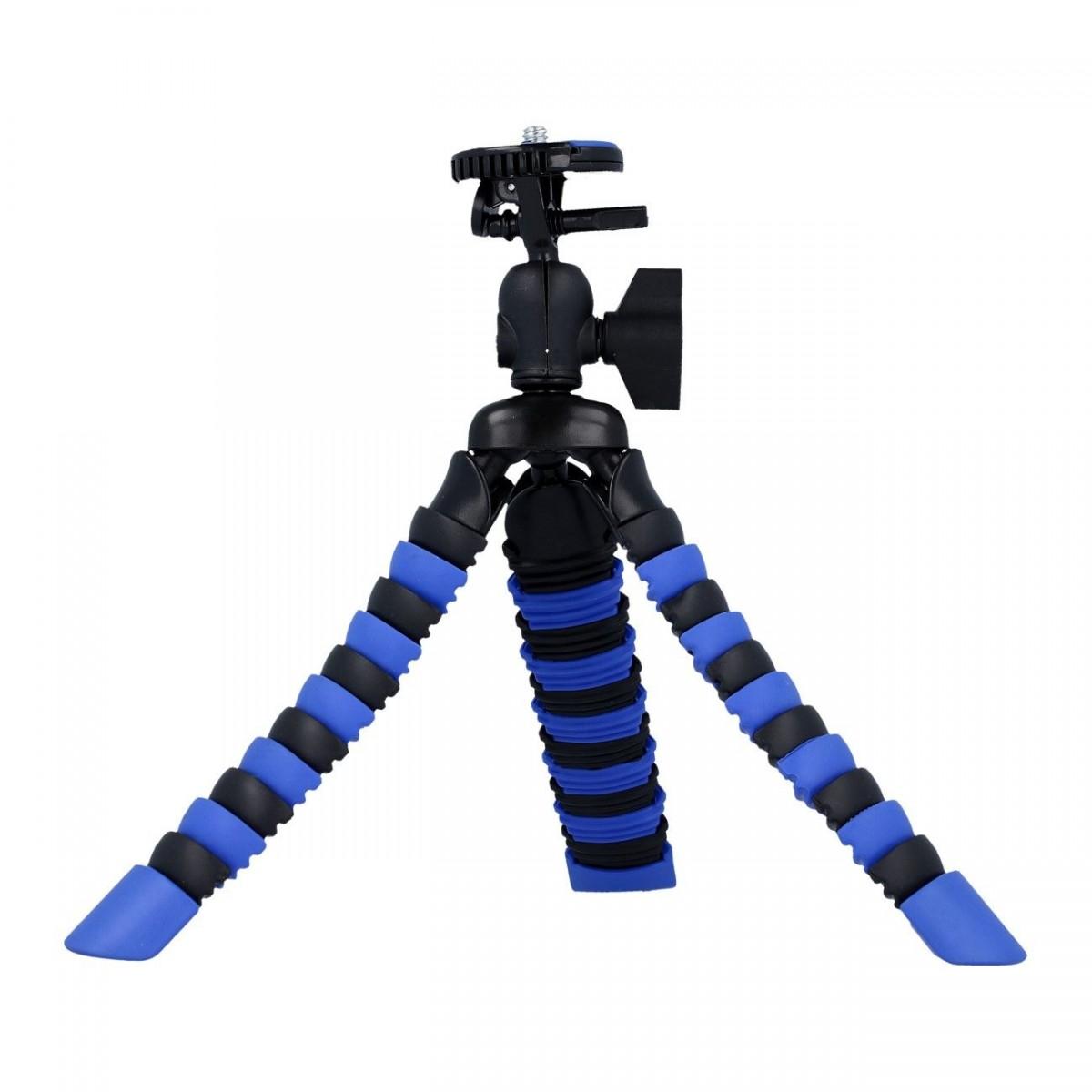 Stativ pro mobilní telefon TopQ flexibilní Mini modro-černý 40709