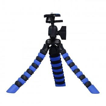 Stativ pro mobilní telefon flexibilní Mini modro-černý