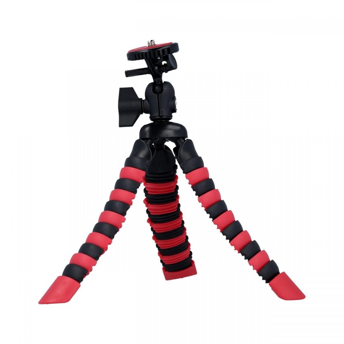Stativ pro mobilní telefon TopQ flexibilní Mini červeno-černý 40710
