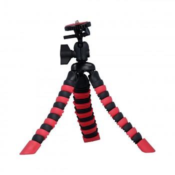 Stativ pro mobilní telefon flexibilní Mini červeno-černý