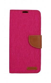 Knížkové pouzdro Canvas na Samsung A9 růžové