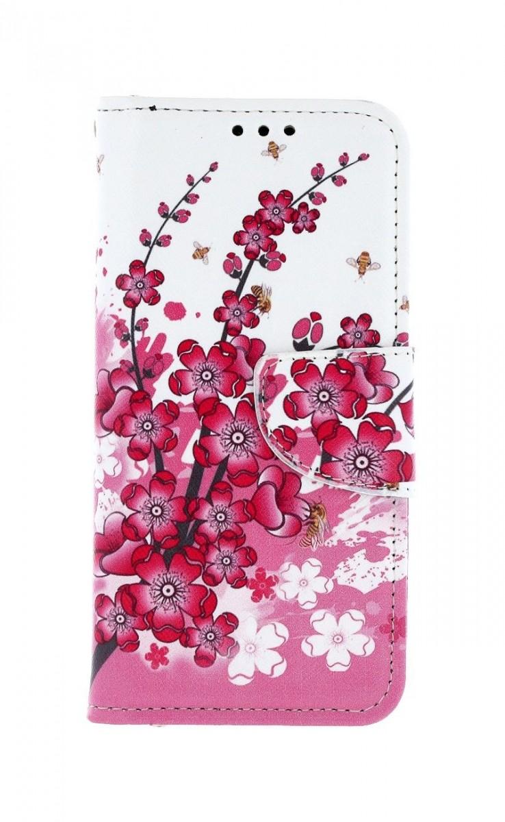 Knížkové pouzdro na Samsung A40 Kytičky textil