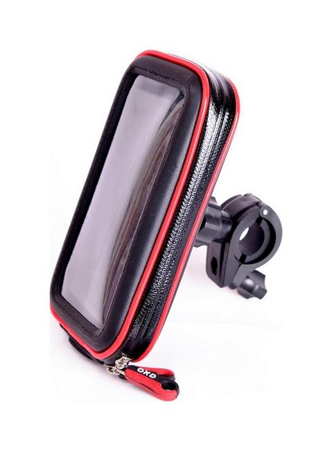 Držák na mobil TopQ na motocykl / skútr Moto M červeno-černý 41272