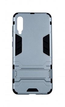 Ultra odolný zadní kryt na Samsung A50 se stojánkem šedý