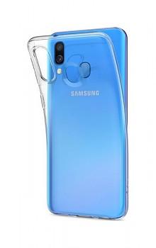 Ultratenký silikonový kryt na Samsung A40 0,5 mm průhledný