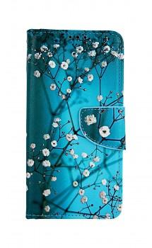 Knížkové pouzdro na Huawei P30 Lite Modré s květy