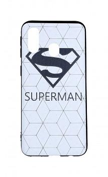 Zadní 3D silikonový kryt na Samsung A40 Bílý Superman
