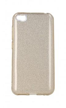 Zadní pevný kryt TopQ na Xiaomi Redmi Go glitter zlatý