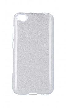 Zadní pevný kryt TopQ na Xiaomi Redmi Go glitter stříbrný
