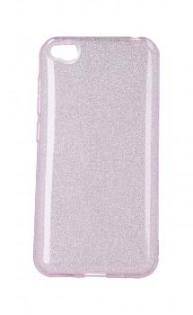 Zadní pevný kryt TopQ na Xiaomi Redmi Go glitter růžový