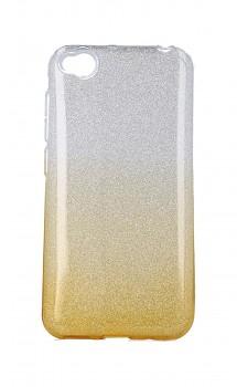 Zadní pevný kryt TopQ na Xiaomi Redmi Go glitter stříbrno-oranžový