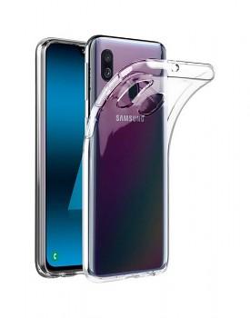 Zadní kryt Swissten Clear Jelly na Samsung A40 průhledný