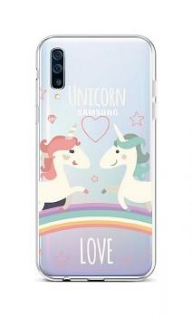 Zadní silikonový kryt na Samsung A50 Unicorn Love