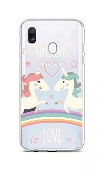 Zadní silikonový kryt na Samsung A40 Unicorn Love