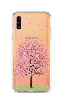 Zadní silikonový kryt na Samsung A70 Blossom Tree