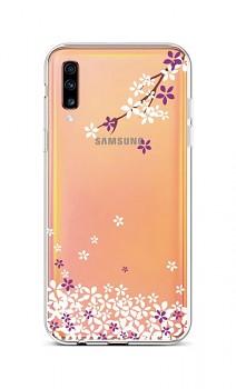Zadní silikonový kryt na Samsung A70 Květy sakury