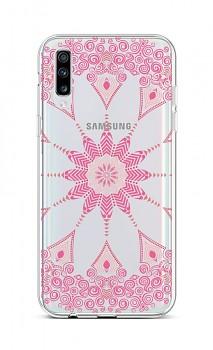 Zadní silikonový kryt na Samsung A70 Pink Mandala