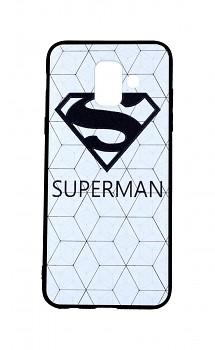 Zadní 3D silikonový kryt na Samsung A6 bílý Superman