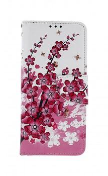 Knížkové pouzdro na Xiaomi Redmi Note 5 Kytičky textil