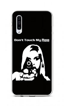 Zadní silikonový kryt na Samsung A50 Don't Touch Gun