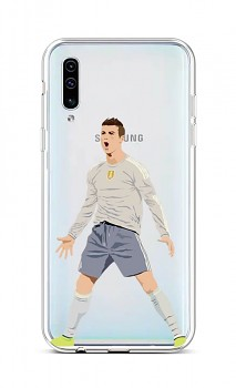 Zadní silikonový kryt na Samsung A50 fotbalista