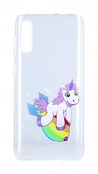 Zadní silikonový kryt na Samsung A50 Flying Unicorn