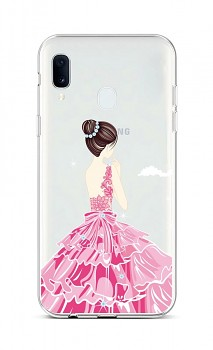 Zadní silikonový kryt na Samsung A20e Pink Princess