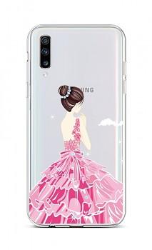 Zadní silikonový kryt na Samsung A70 Pink Princess